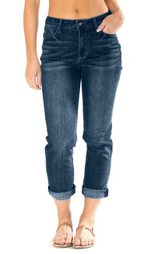 Women's Grace in LA Jeans, Girlfriend, Medium Wash