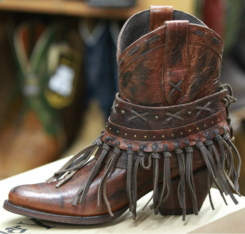 Women's Old Gringo Boot, Brown w/ Fringe, Garavito