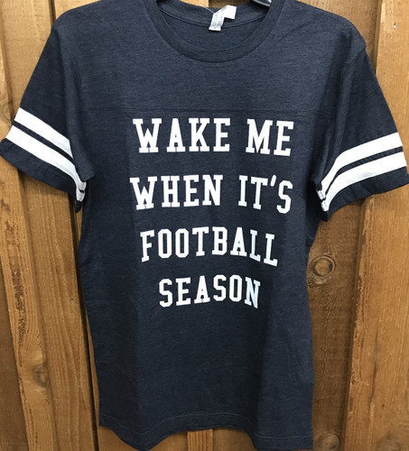 "Women's Ruby's Rubbish Tee, ""Wake Me When It's Football Season"""
