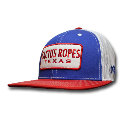 Kids Hooey Cap, Cactus Ropes, Blue and Red with White Mesh, Trucker Style