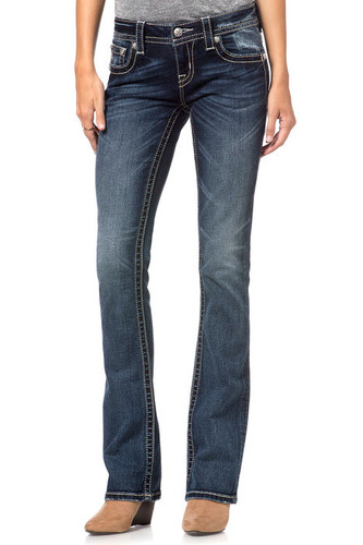 Women's Miss Me Jean, Gold Embroidery Pocket