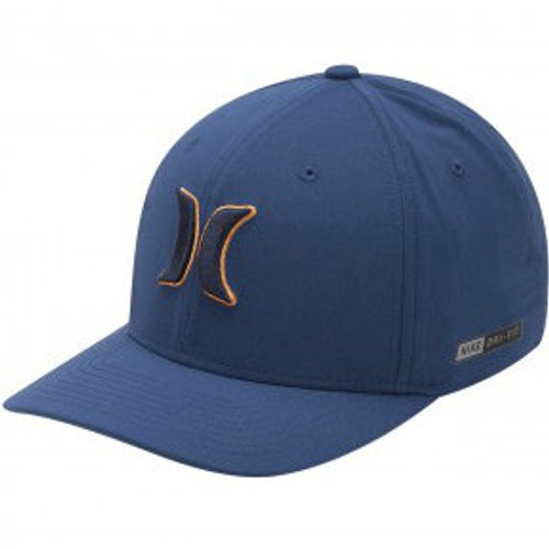 Men's Hurley Cap, Blue with Black and Orange Logo