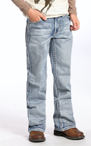 Boys Rock & Roll Jeans, Criss Cross Multi V Stitching