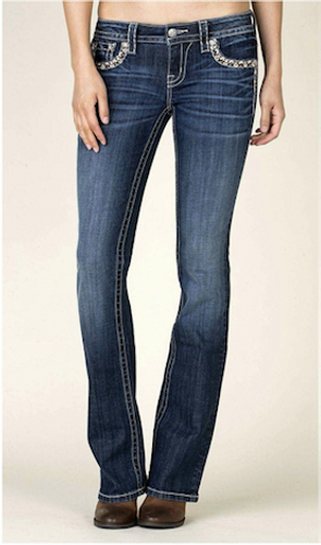 Women's Miss Me Jeans, Pocket Border Stitching