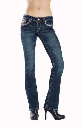 Women's Grace in LA Jeans, Silver Cross