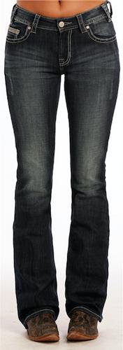 Women's Rock & Roll Jeans, Mid-Rise, Single Stripe Pocket