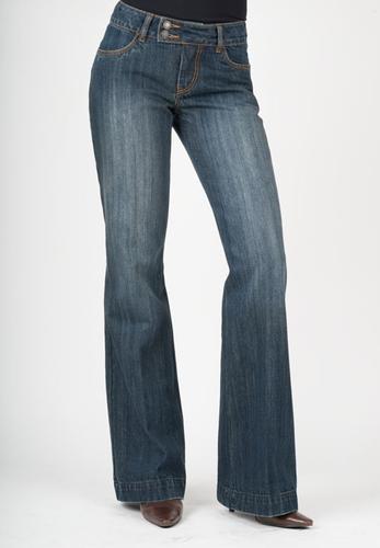 Women's Stetson Jean, Trouser Fit, Dark Wash, Regular