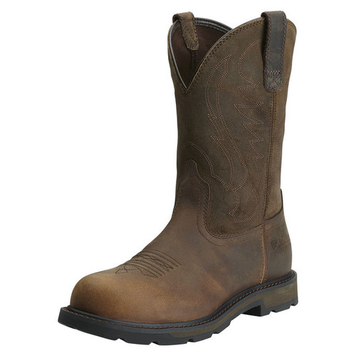 Men's Ariat Boot, Steel Toe, Chocolate Round Toe