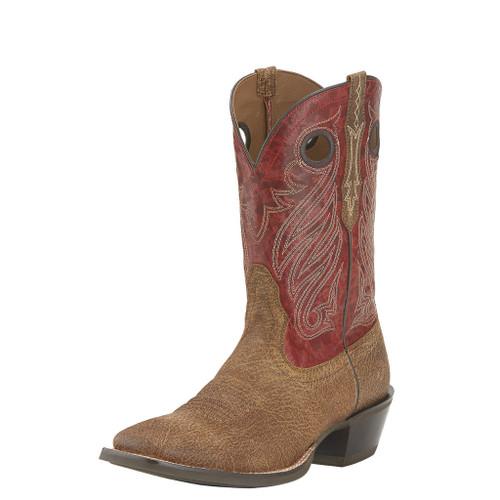 Men's Ariat Boot, Roughout Vamp, Red Shaft