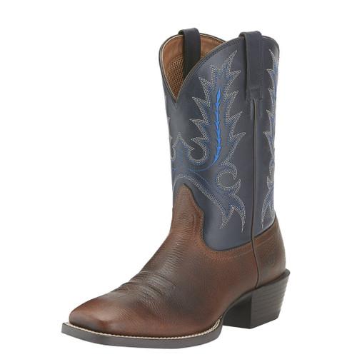 Men's Ariat Boot, Brown Vamp, Blue Shaft