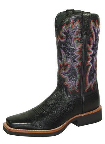 Women's Twisted X Boot, Black w/ Purple Stitch