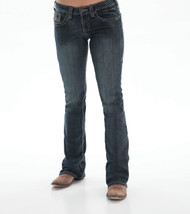 Women's Cowgirl Tuff Jean, Gold/Blue Stitch Pocket