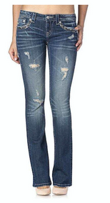 Women's Miss Me Jeans, Silver & Gold Sequin Pocket, Signature/ Bootcut