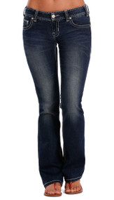 Women's Rock & Roll Jeans, Original Low Rise, Cream Arch Stitch