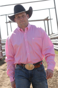 Men's Cinch Long Sleeve Solid Pink Button Down Shirt