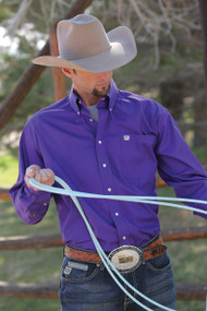 Men's Cinch Long Sleeve Solid Purple Button Down Shirt