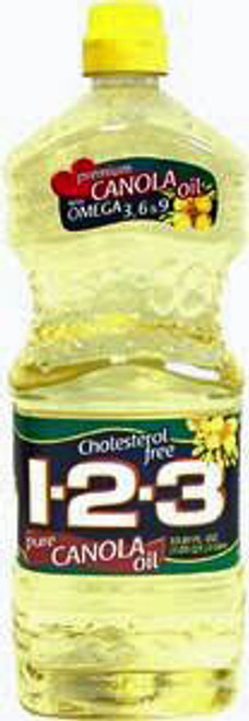 123 CANOLA OIL 12/33.8oz