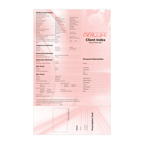 Client Index Cards Photoepilation