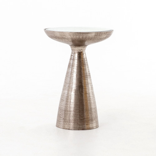 Nickel Pedestal Table