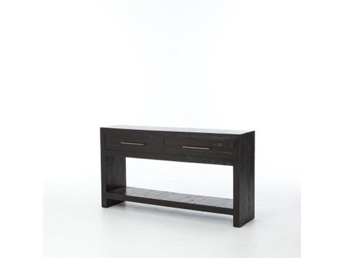 Burnished Black Console Table