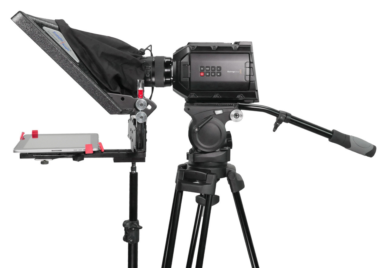 ProLine FreeStand iPad Pro Teleprompter - Side