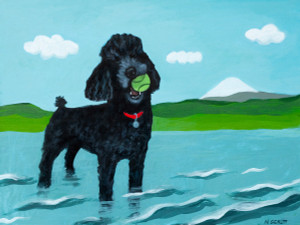 Willy (Black Standard Poodle)