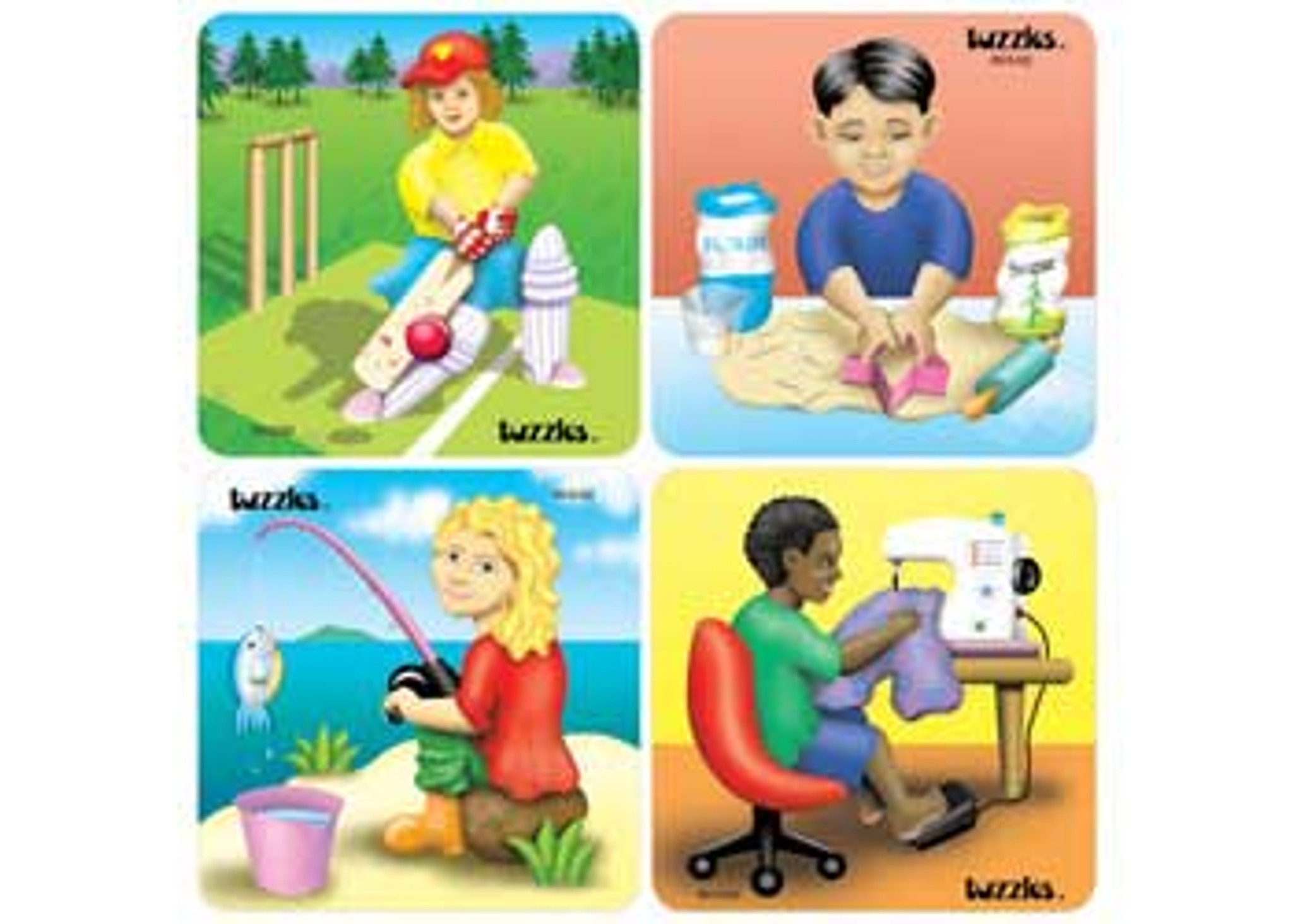 Set of 4 Gender Equity puzzles Australian made by Tuzzles 8 pce each