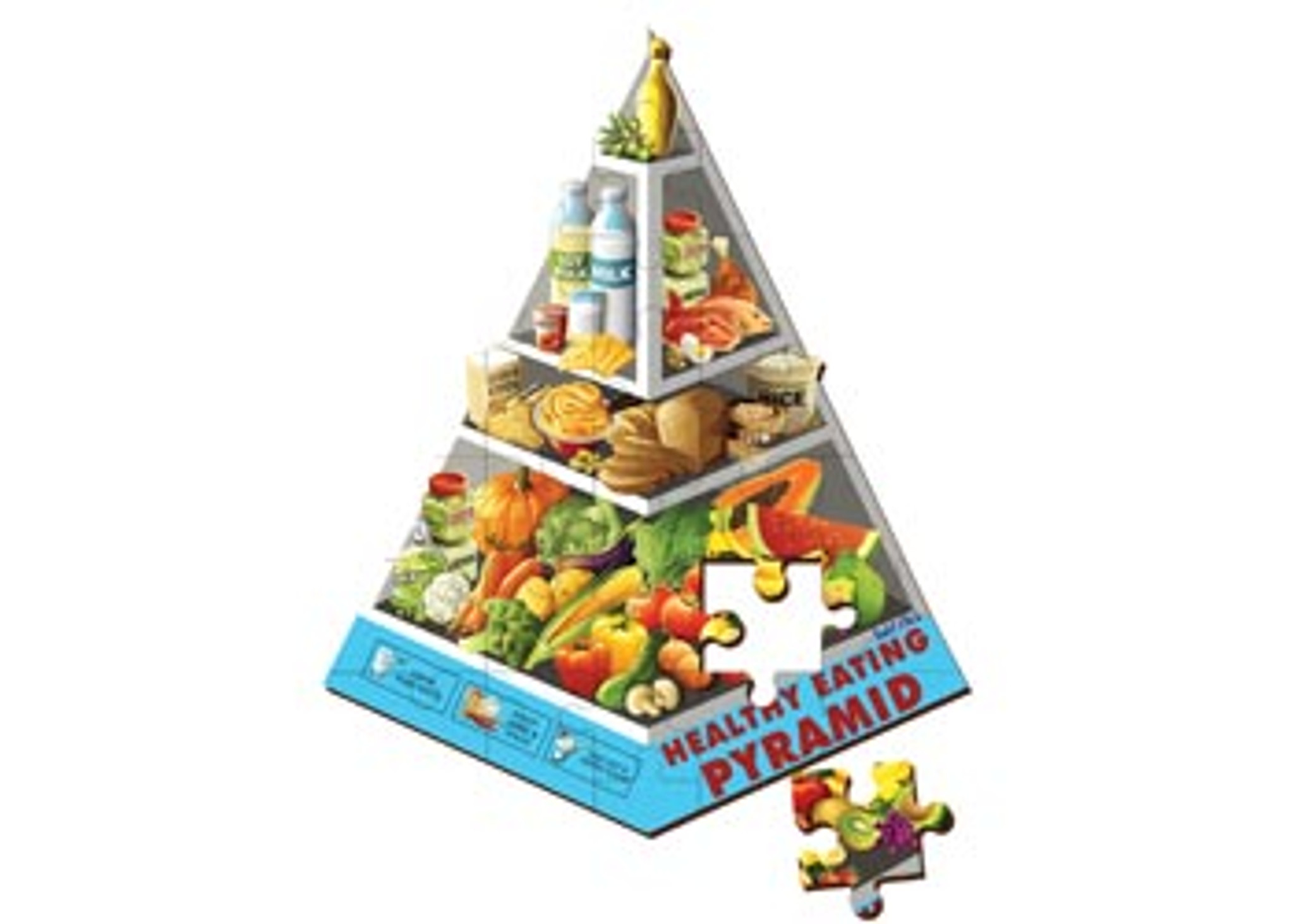 Healthy Eating  puzzle 40x60cm  24 PCE 40x30cm