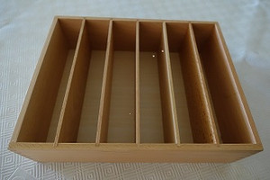 Larger display box for cards 6 compartments