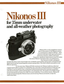 Nikonos III Underwater and All-Weather Camera - 1976 Sales Sheets - Free Download