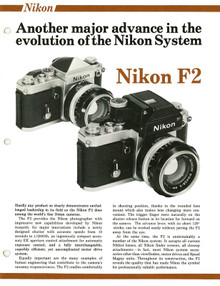 Nikon F2 - The Evolution of the Nikon System - 1976 Sales Sheets - Free Download