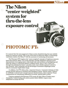Nikon F Photomic FTn, Nikon F System Interchangeable Finders and Finder Accessories 1973 Sales Sheets - Free Download
