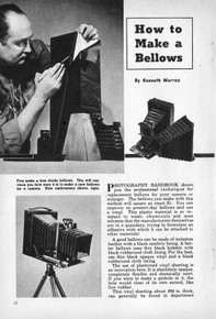 How to Make a Bellows by Kenneth Murray - Photography Handbook No. 12 - Free Download