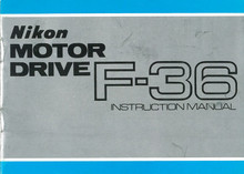 Nikon Motor Drive F36 Instruction Manual - Free Download