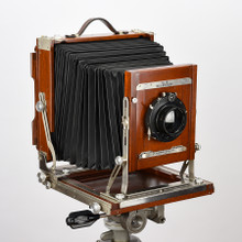 8x10 Deardorff View Camera V8 with Bausch & Lomb Zeiss Protar Series VII Triple Convertible Lens