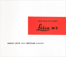 Instructions Leica M3 — PDF Download