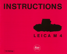 Instructions Leica M4 — PDF Download