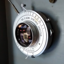 Kodak 8-1/2 Inch f/6.3 Commercial Ektar Lens in No. 3 Ilex Acme Synchro Shutter