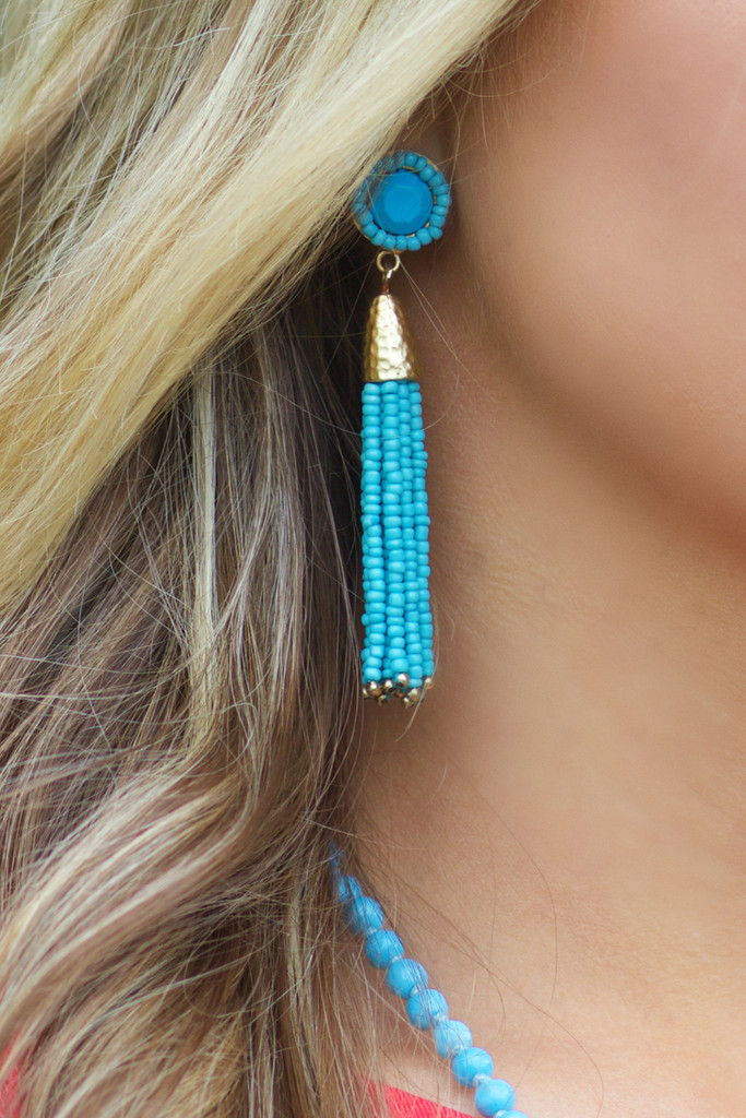 Livin' The Dream Earrings: Turquoise