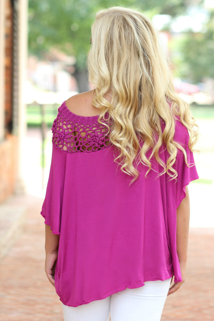 Dream In Color Top: Magenta