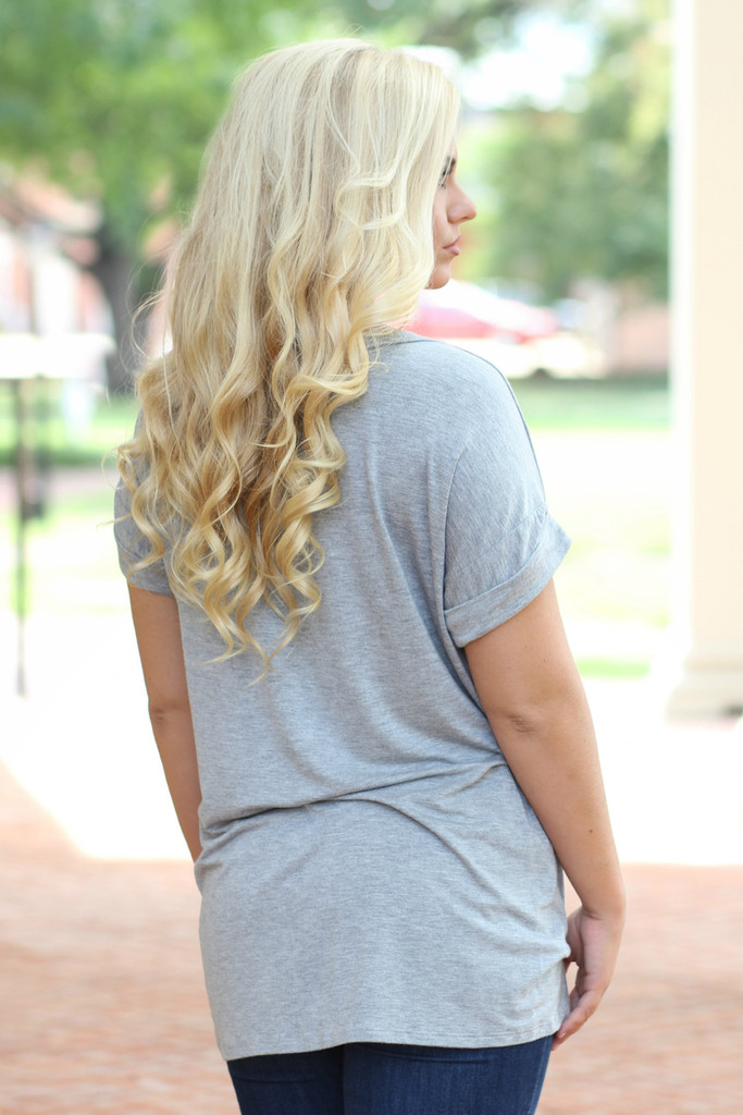 On The Go Tee: Grey