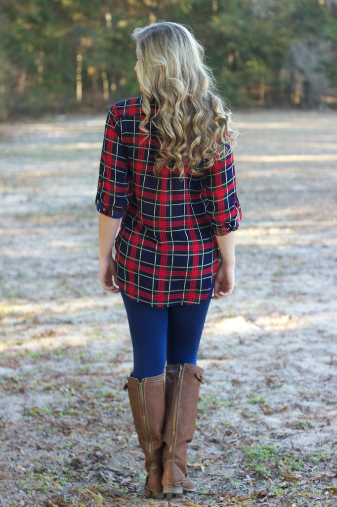 Classic Example Tunic Top: Navy