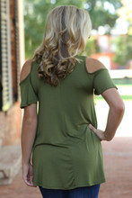 Say No More Top: Olive