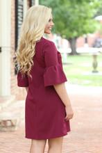 New Approach Dress: Burgundy