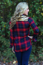 All In The Details Top: Red/Navy