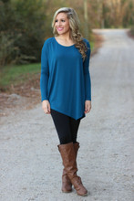 Asymmetrical Days Tunic: Blue