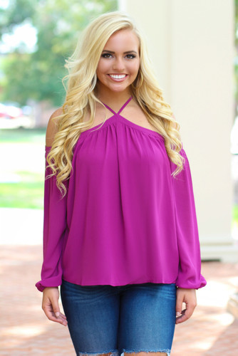 The Good Life Top: Magenta