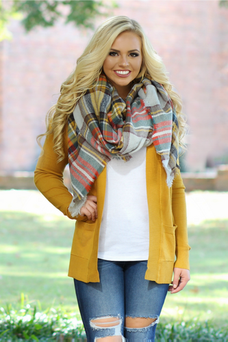 All Day Favorite Cardigan: Mustard