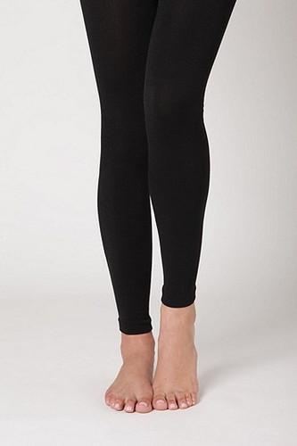 Fleece Lined Leggings: Black