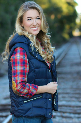 Winding Roads Vest: Navy